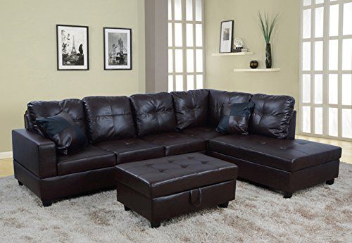 chocolate brown leather sectional sofa with 2 storage ottomans sale toronto pin by sectionalsofas on best sofas recliners reviews lifestyle 3 piece faux left facing set ottoman for