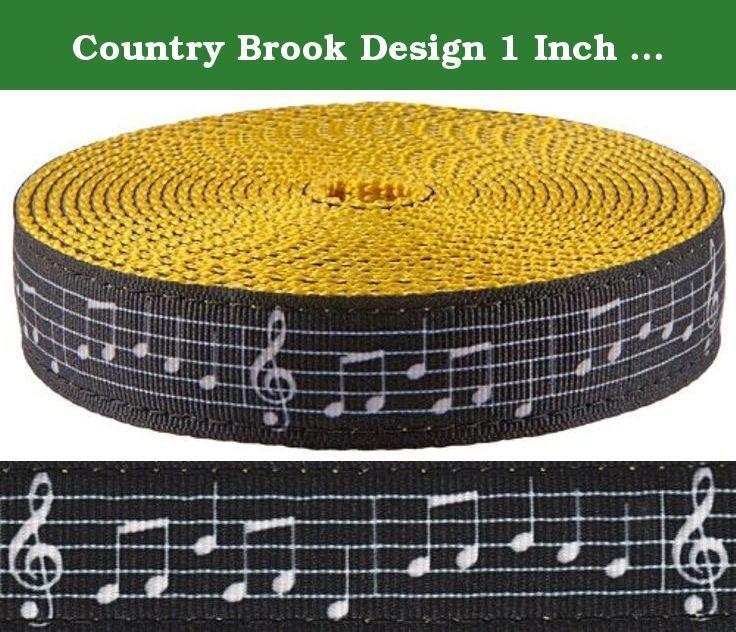 Country Brook Design® 3//8 Inch White Heavy Nylon Webbing 20 Yards