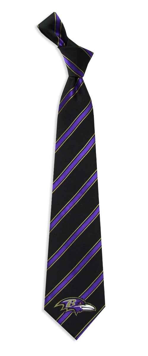 Baltimore Ravens NFL Woven Polyester #1 Mens Neck Tie