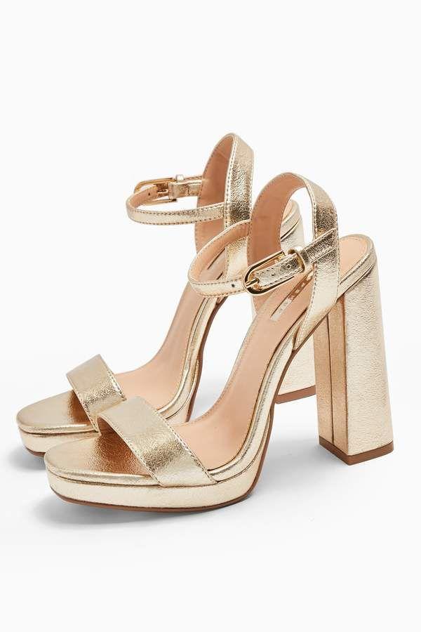 SABINE Gold Platform Heels | Gold