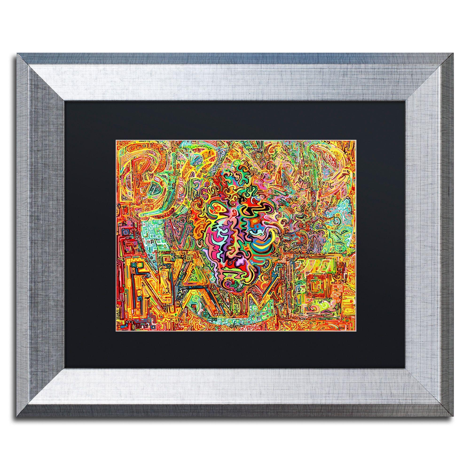 Trademark Fine Art Wind Turbine Plantation Worker Canvas By Josh Byer Black Matte Silver Frame Multicolor
