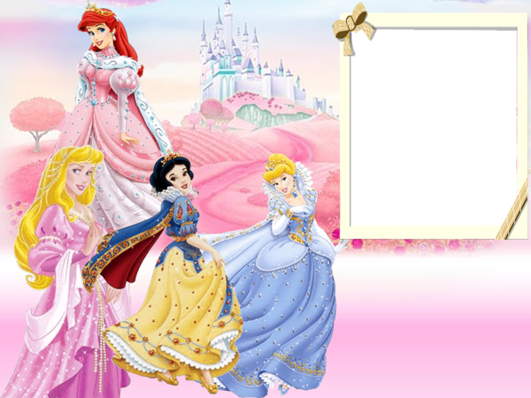 Walt Disney Princesses Kids Transparent Frame ...