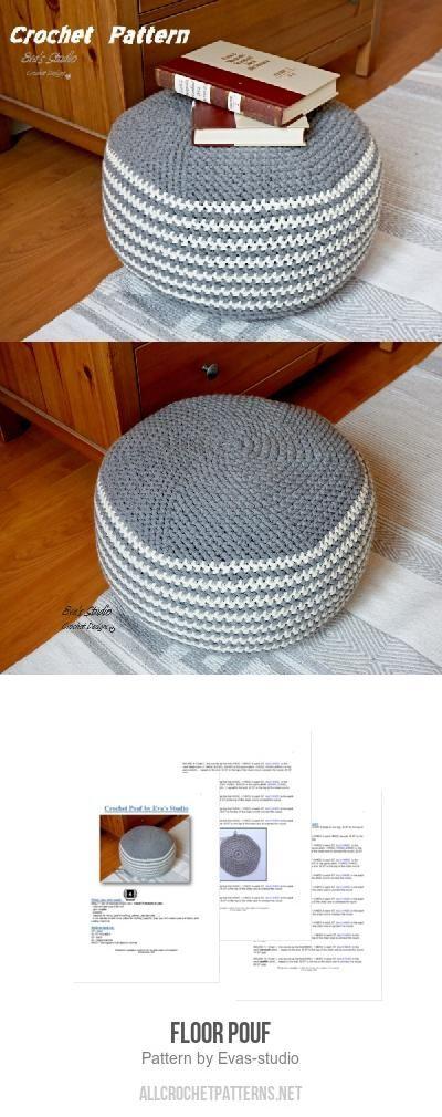 Floor Pouf Crochet Pattern By Evas Studio Floor Pouf Crochet And