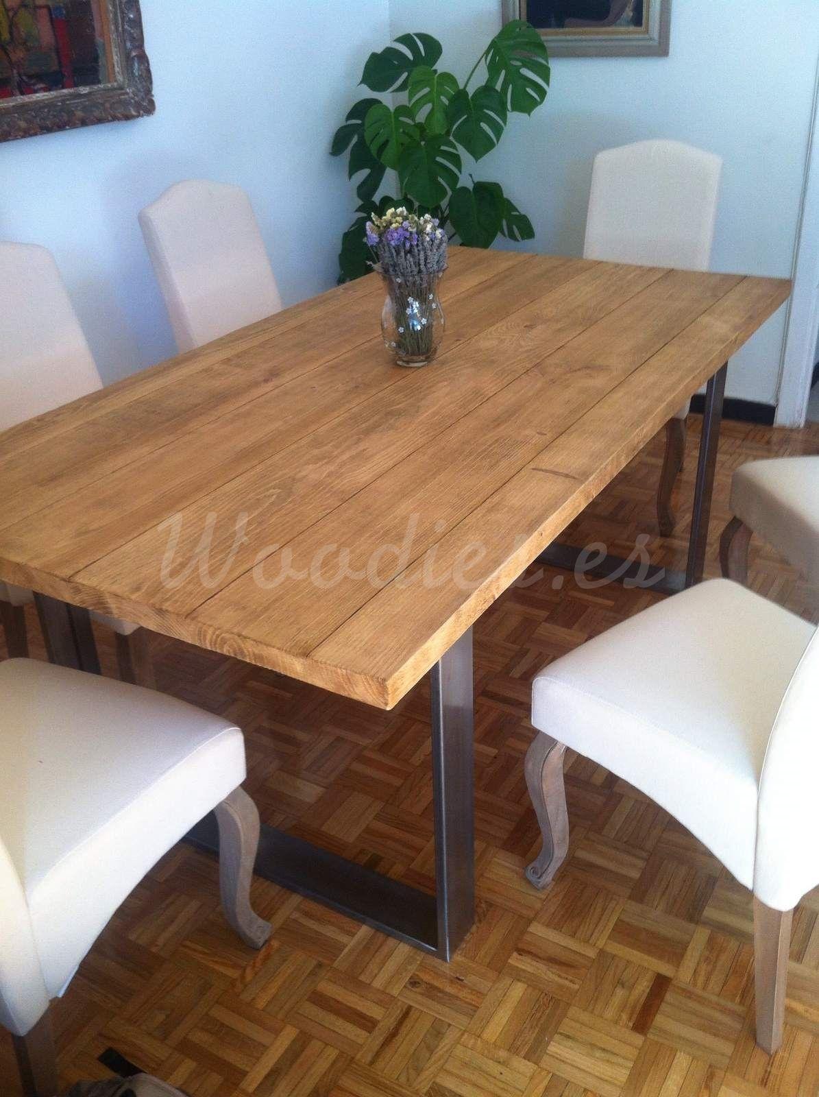 Mesas Comedor Madera Maciza | Mesa Comedor Industrial Mesas Woodies Deco Salon Pinterest
