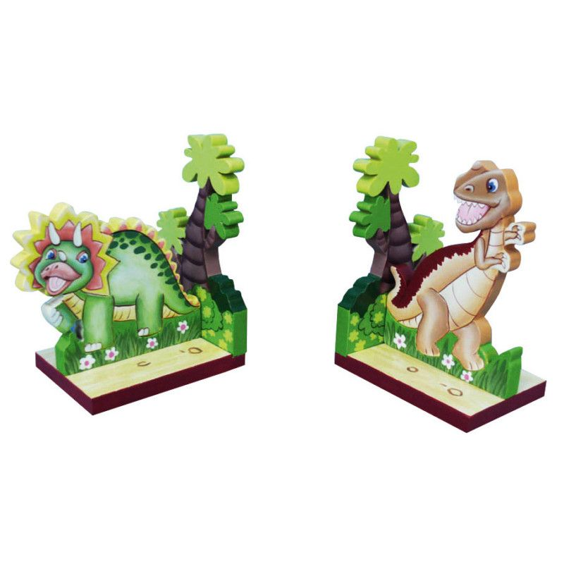 Dinosaur bookends by teamson book ends for nursery or