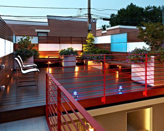 Que linda la terraza no olvidar terraza en el segundo for Choza de jardin de madera techo plano