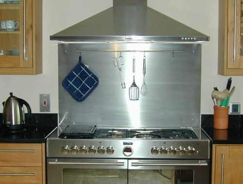 30 30 Stainless Steel Backsplash For Range Hood Ebay Kitchen