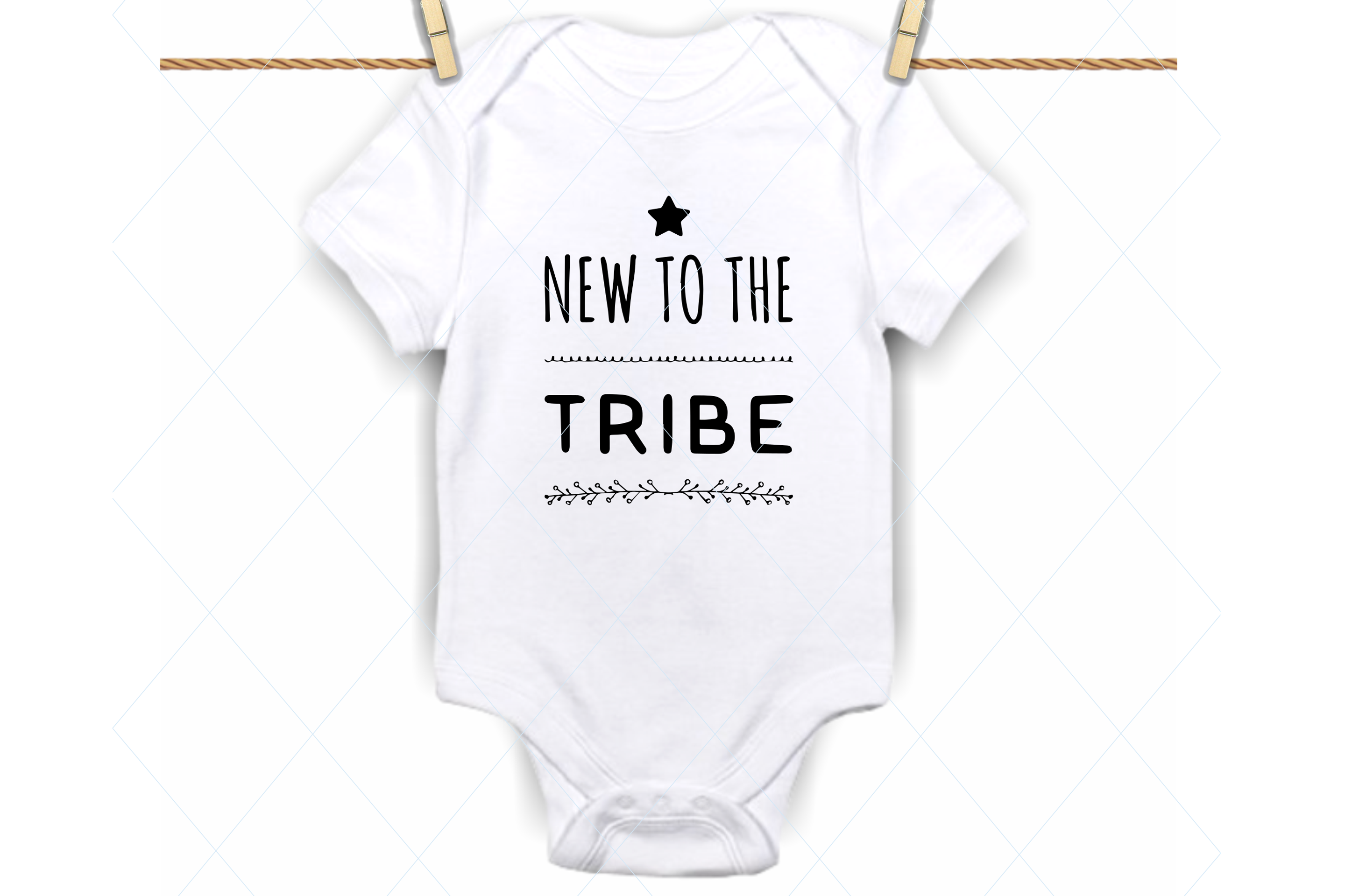 New To The Tribe Svg Baby Onesie Svg Graphic By Thelovebyrds