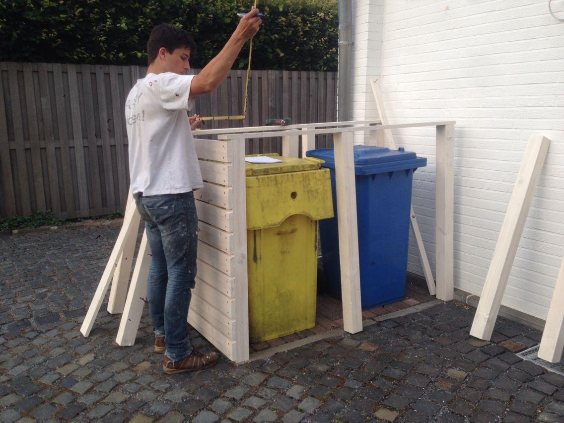 DIY: Wir bauen unser Mülltonnen-Haus. - Building a house for our ...