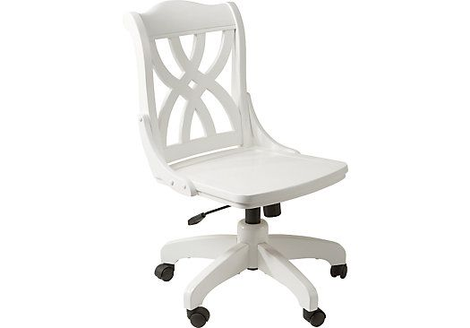 Picture Of Oberon White Desk Chair From Seating Furniture