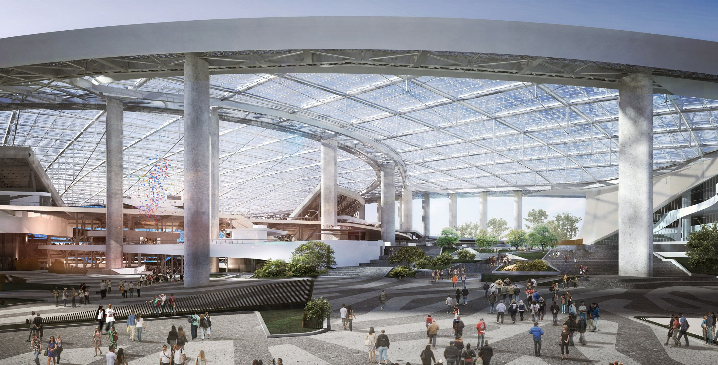 La Rams Stadium Hks Los Angeles Usa Architecture Dezeen 2364 Col 2 American Football Team La Rams Architecture