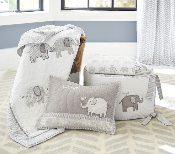Taylor Elephant Baby Bedding images