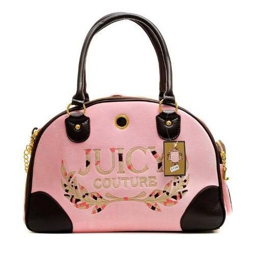 Juicy Couture Velour Laurel Dog Carrier Bag Pink $73.70