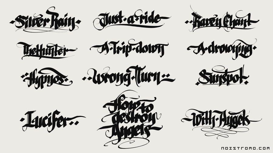 Calligraffiti Random By Noistromo Deviantart Com Calligraphy Lettering Alphabet Gothic Alphabet
