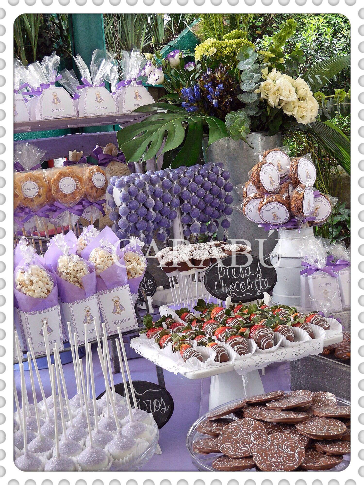 Primera comunion mesas de dulces postres y enchilados for Mesa dulce para comunion