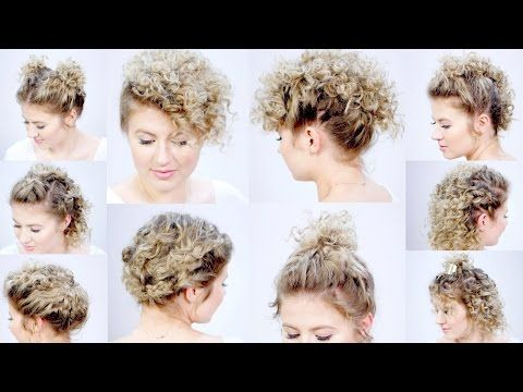 10 Easy Hairstyles For Short Hair With Curling Iron Milabu Youtube Easy Hairstyles Short Hair Styles Easy Curled Hairstyles