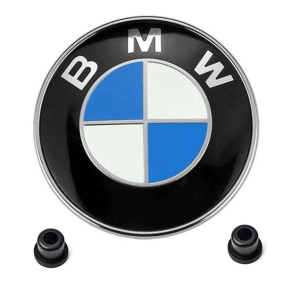 Blue BMW Logo Replacement 82mm BMW Emblems Hood and Trunk 74mm for ALL Models BMW E46 E30 E36 E34 E38 E39 E60 E65 E90 325i 328i X3 X5 X6 1 3 5 6 7