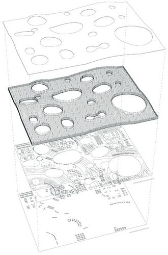 02e3d5ff2a6 A diagram that explains the elements of SANAA s design for the Rolex  Learning Center at the