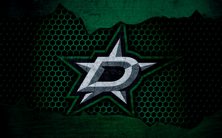 Download Wallpapers Dallas Stars 4k Logo Nhl Hockey Western Conference Usa Grunge Metal Texture Central Division Besthqwallpapers Com Dallas Stars Sports Wallpapers Nhl Hockey