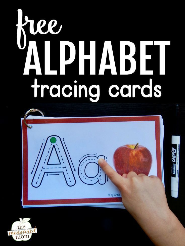 Help kids remember letters with this free alphabet tracing book!  The Measured Mom is part of Alphabet tracing - My daughter LOVES these free alphabet tracing printables! She names the picture and letter, and then uses a finger or dry erase marker to trace each letter  What a great way to teach letter recognition and letter sounds! writingpractice letterrecognition alphabetactivity alphabettracing