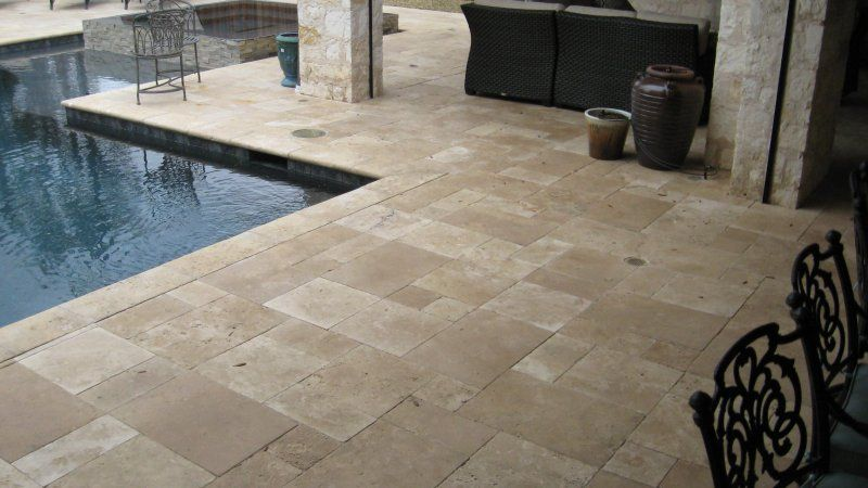 Pool Decks Using Travertine Pavers Dallas Legacy Custom