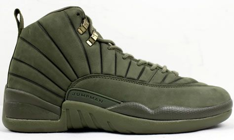 reputable site b6425 03227 Air Jordan 12 Olive Green PSNY