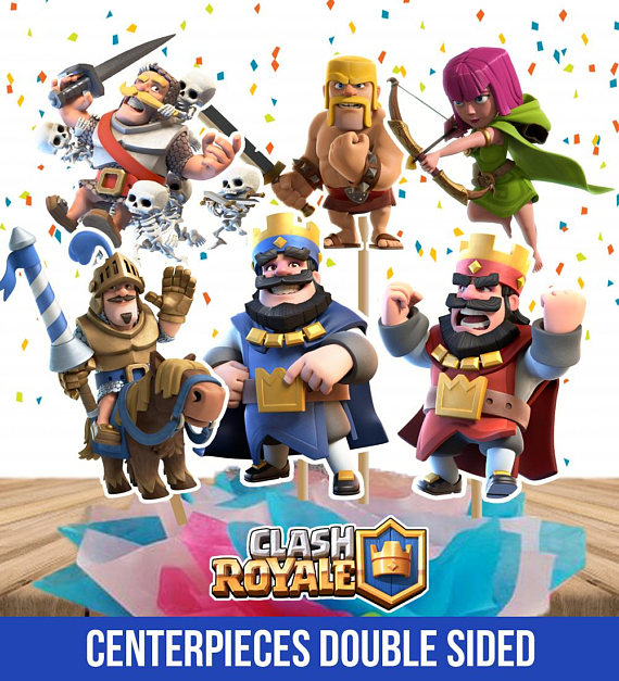 Clash Royale Centerpieces Double Sided Printable Clash Royale Party Clash Royale Cake Toppers In Clash Royale Party Clash Royale Clash Royale Cake
