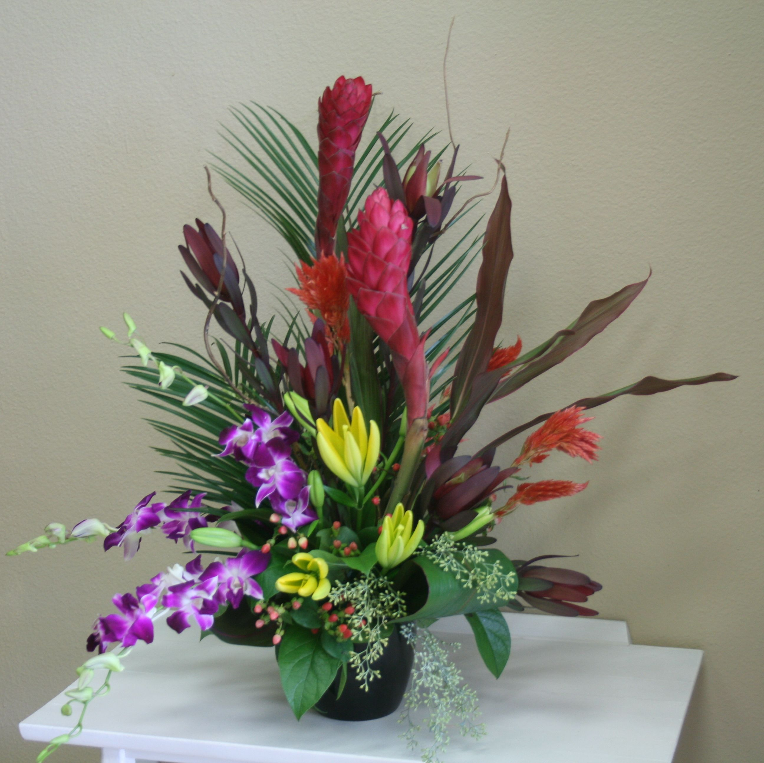 Tropical flowers including orchids and ginger by your local tropical flowers including orchids and ginger by your local riverside ca florist willow branch izmirmasajfo