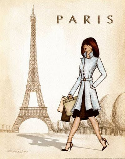 Chica en Paris Chicas y ciudades para imprimir | anime | Pinterest ...
