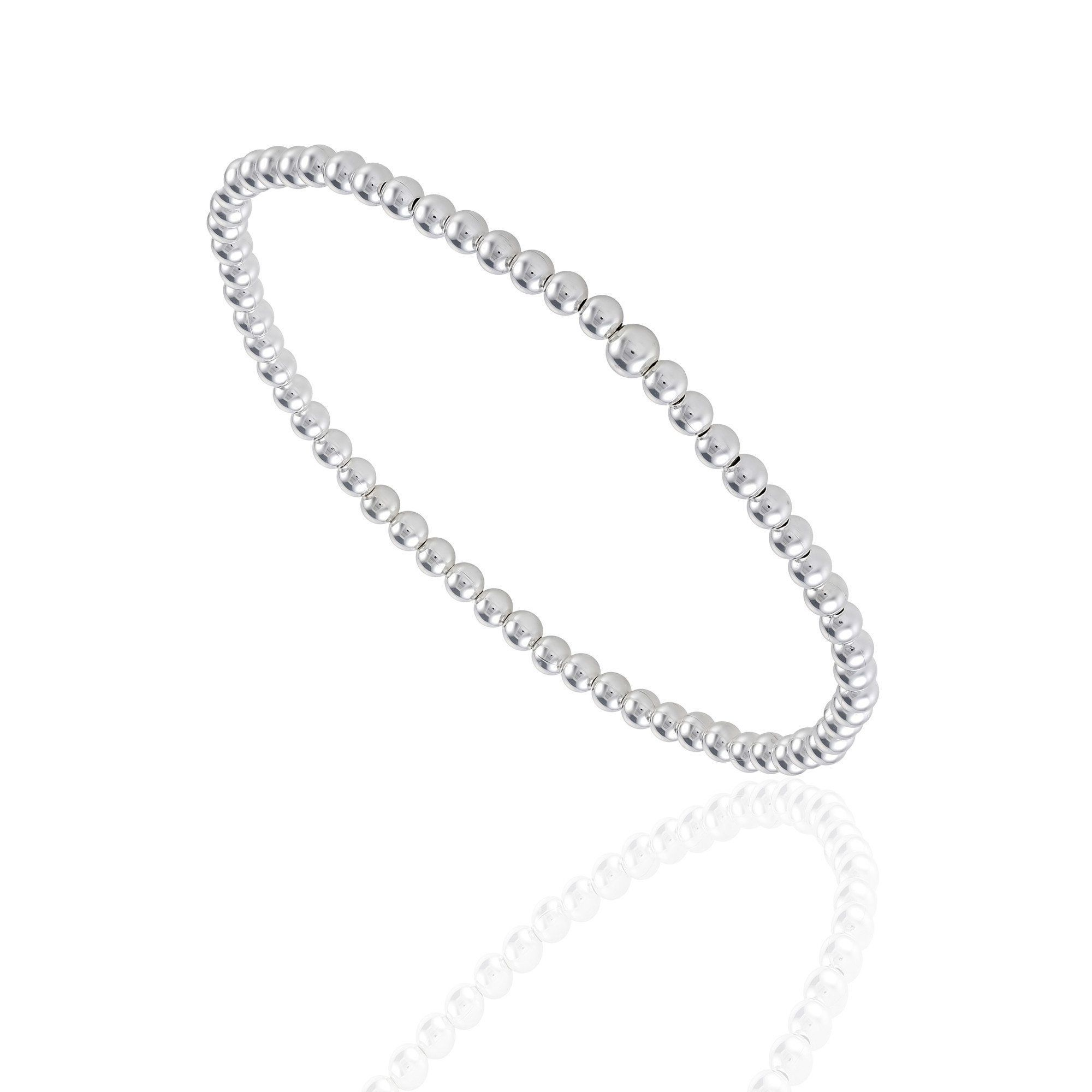 Small Sterling Silver Balls On An Elastic Wire Make This