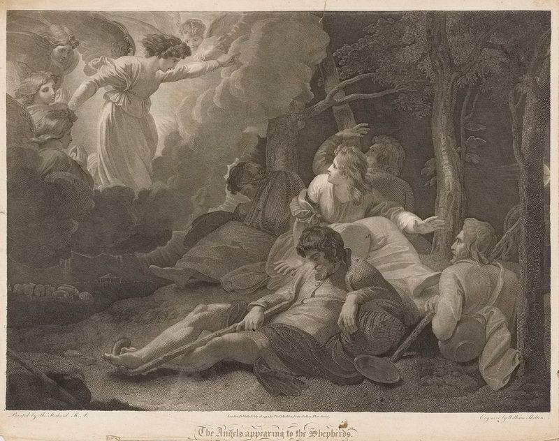 The angels appearing to the shepherds - Thomas Stothard - Royal ...