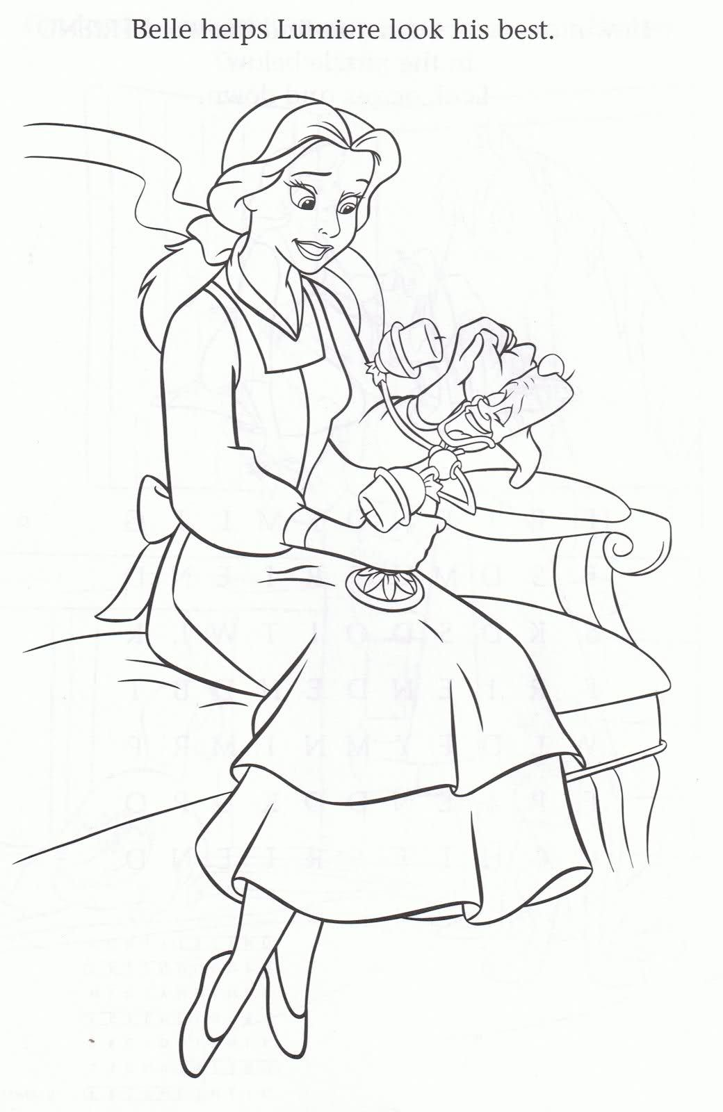 belle colouring sheets | Pinterest