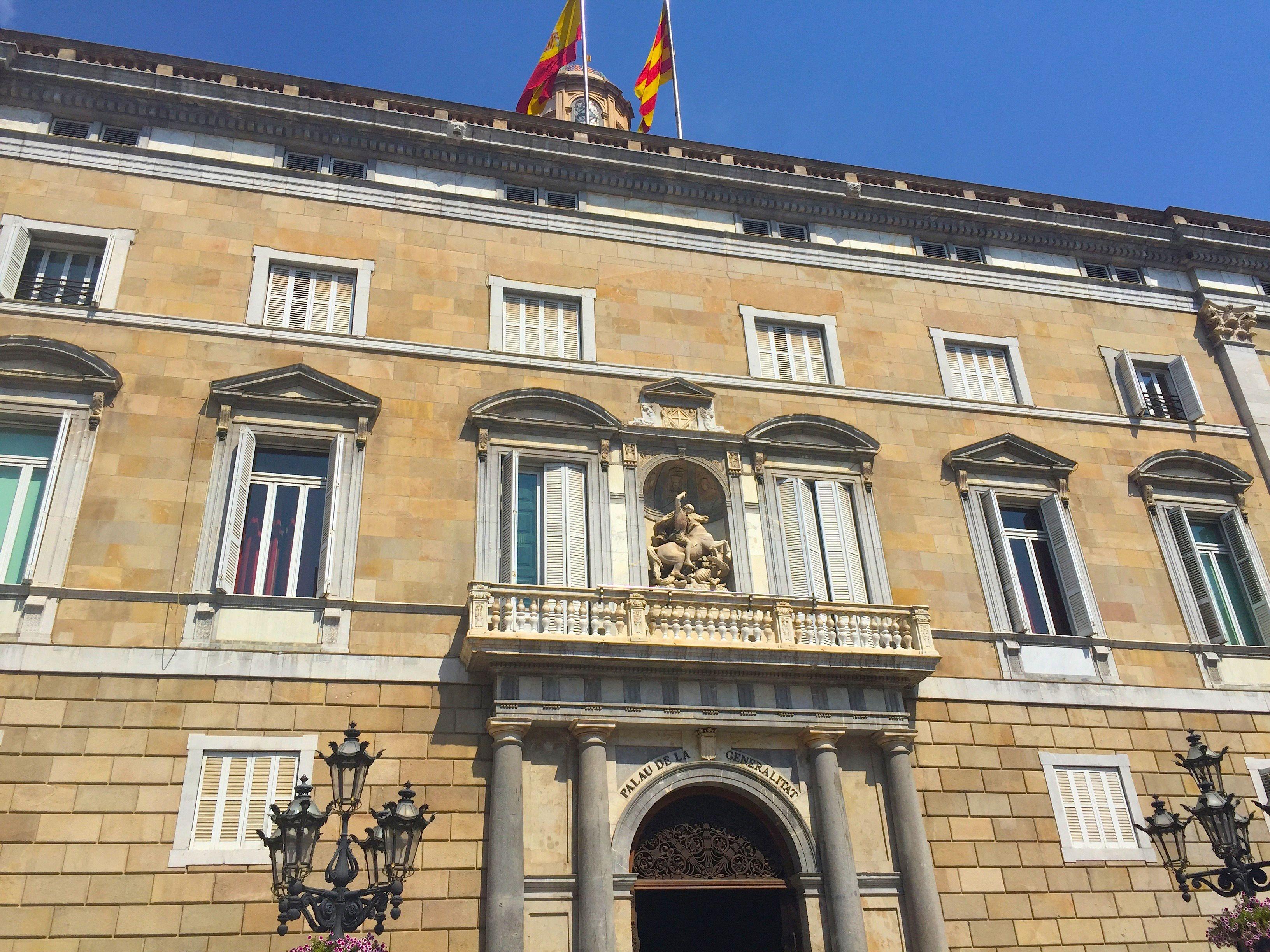 The Palau De La Generalitat De Catalunya In Barcelona A Historic
