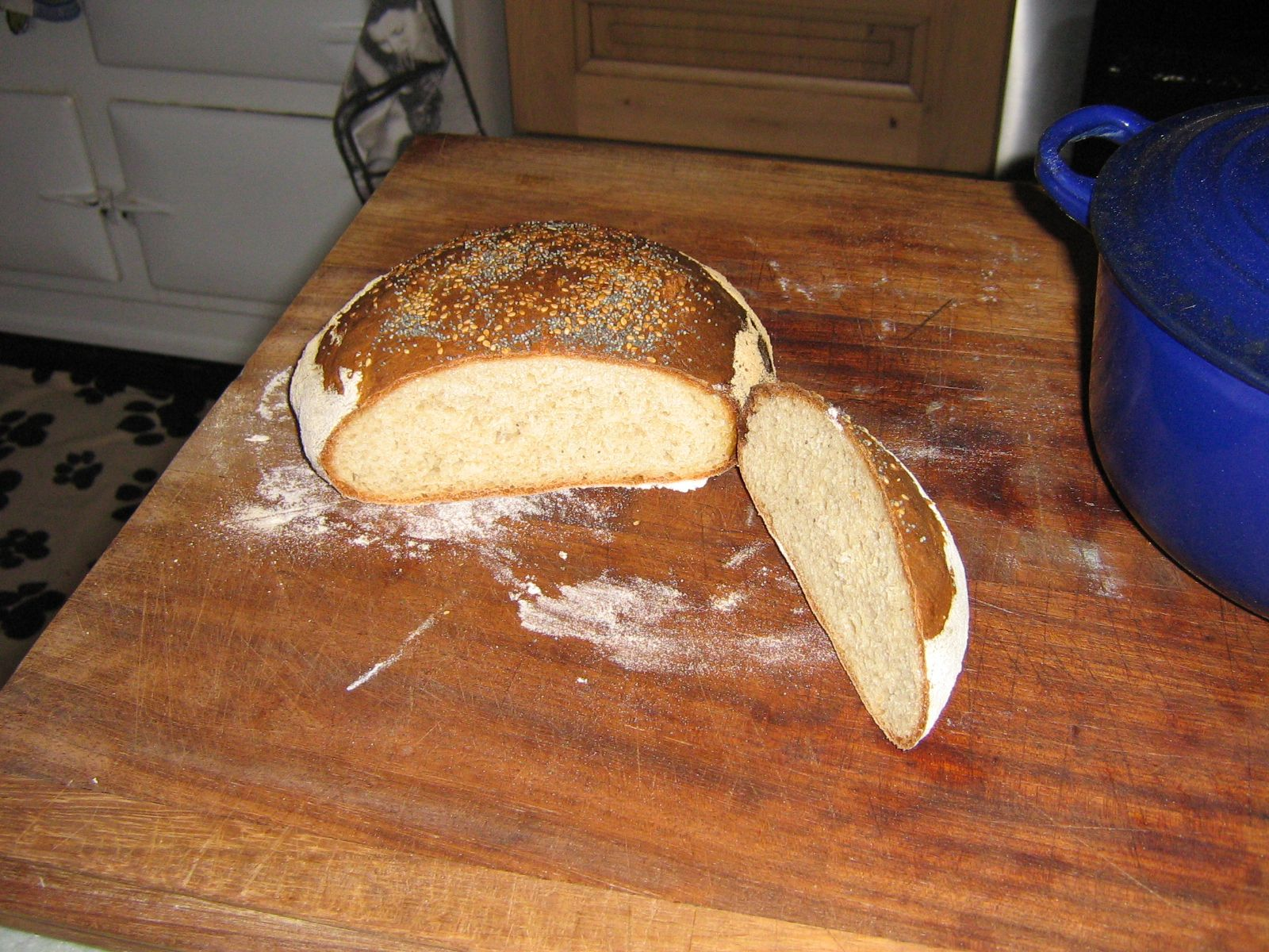 High Blean B&B Semer Water cooked no knead bread  Great crumb even though not kneaded.  http://highblean.co.uk/high-blean-bb-semer-water-no-knead-bread/