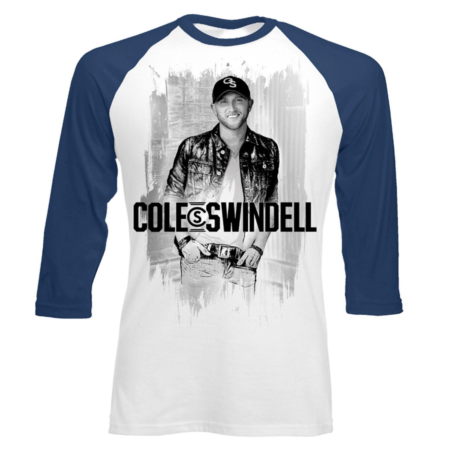 Shirt design supplies - Sketch Photo Baseball T Shirt Cole Swindell