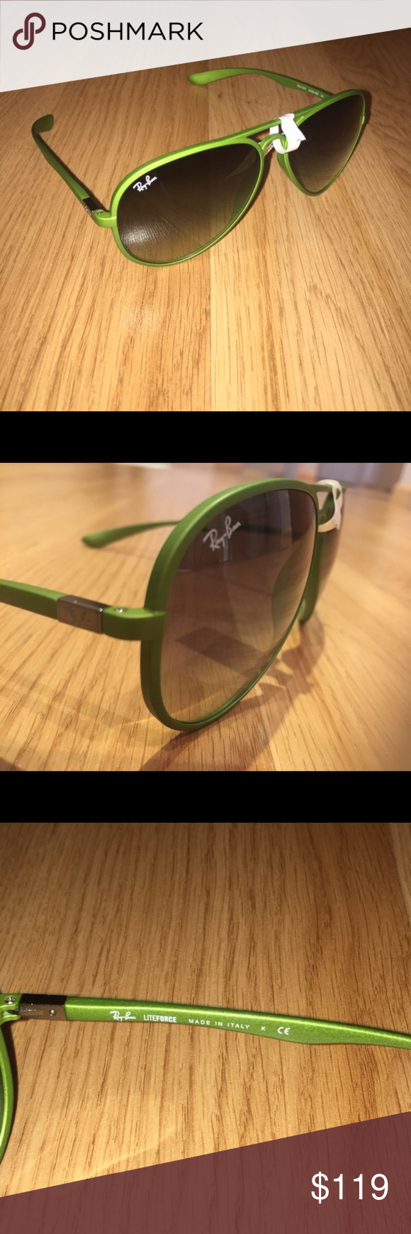 71090c266cfaa NWT Ray Ban Lite force aviators Comes with case Ray-Ban Accessories  Sunglasses