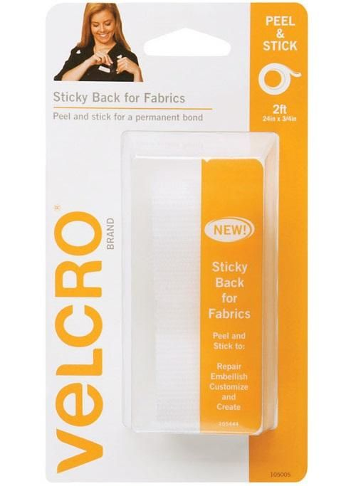 Velcro 91872 Sticky Back for Fabric Tape, 3/4 x 24, White #fabrictape