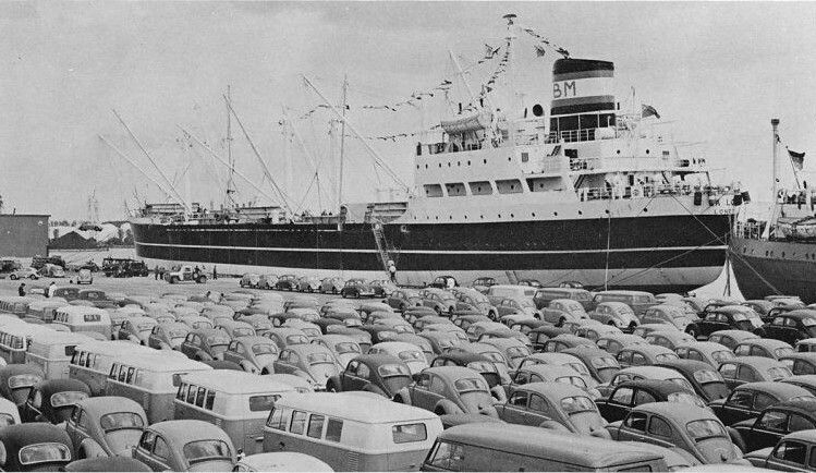 VWs waiting for customs