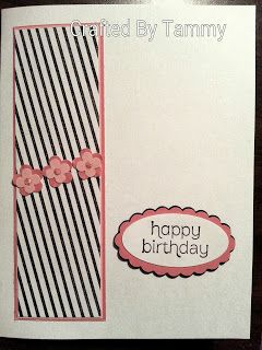 Crafted By Tammy: Pink and Black card