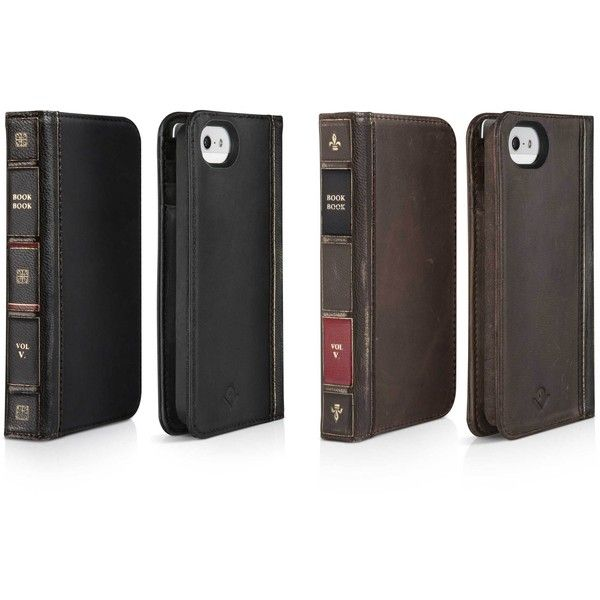 BookBook for iPhone 5 An iPhone case and wallet rolled into one. ($40) ❤ liked on Polyvore featuring accessories, tech accessories, iphone case, apple iphone cases, vintage leather iphone case, leather iphone case and vintage iphone case