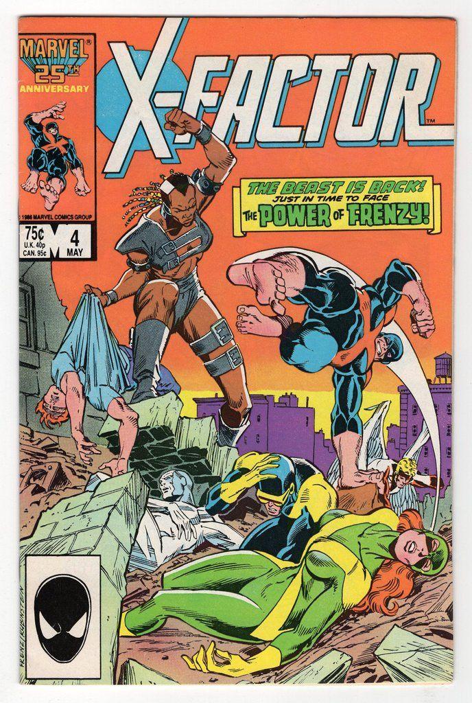X Factor 4 Regular Ron Frenz Joe Rubinstein Cover 1986 Comic Books Comics Marvel Comics Covers