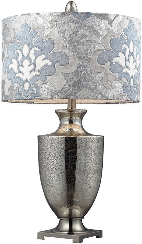 31 Inchh Langham 3 Way Table Lamp Antique Mercury Glass With