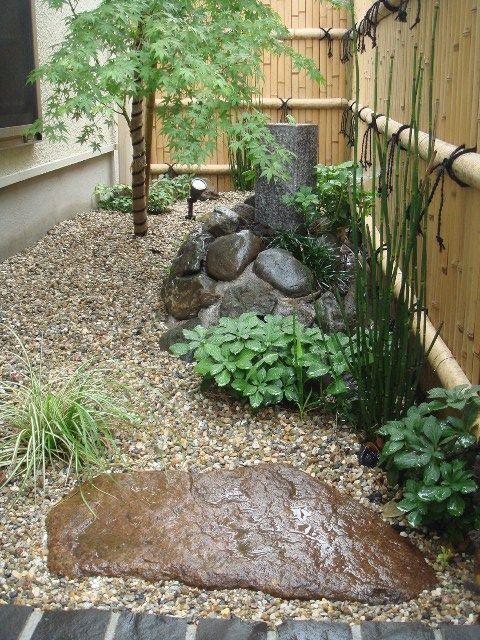 small space Japanese garden | Small garden landscape ...