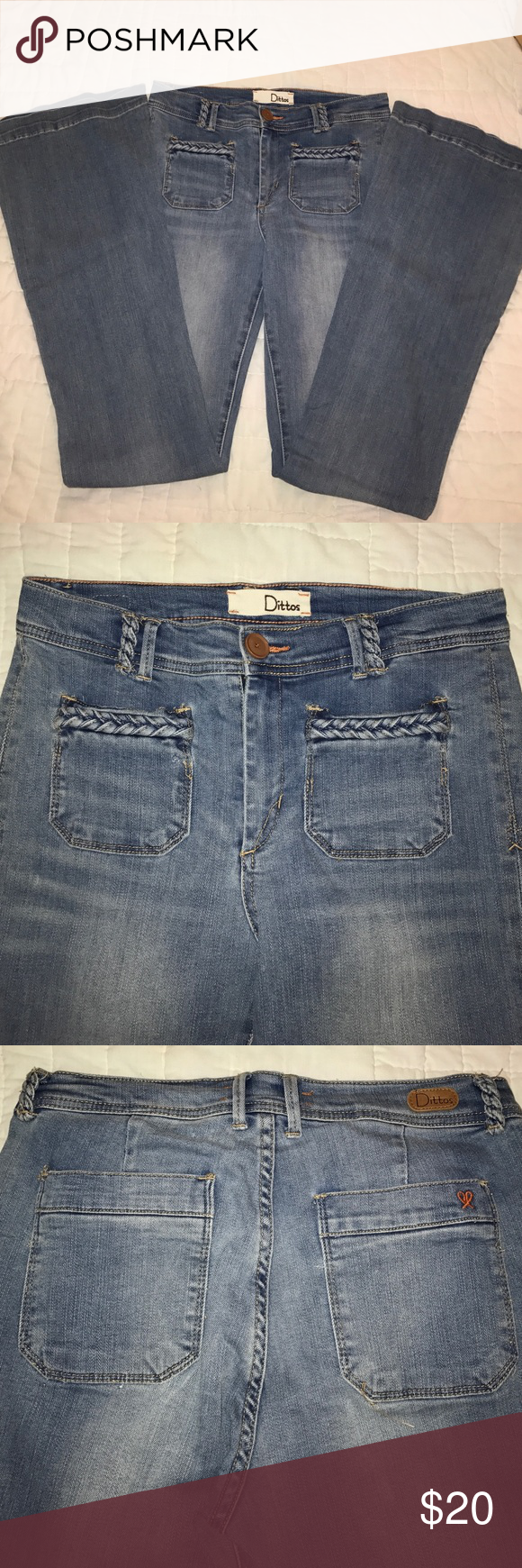 NWOT NEVER WORN Ditto brand high waist flare sz 28 Super cute high fashion Ditto jeans. High waist flare leg is back!!! Don't miss out on these flawless jeans Ditto Jeans Flare & Wide Leg