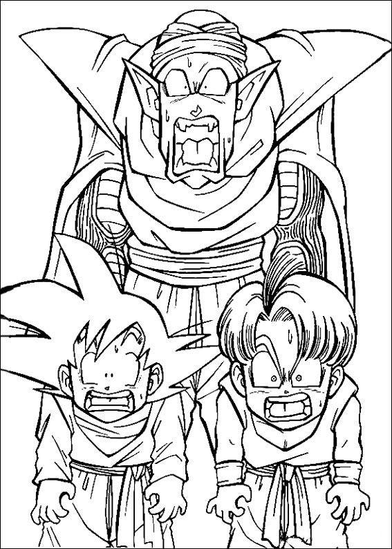Dragon Ball Z Ausmalbilder. Malvorlagen Zeichnung druckbare nº 58 ...