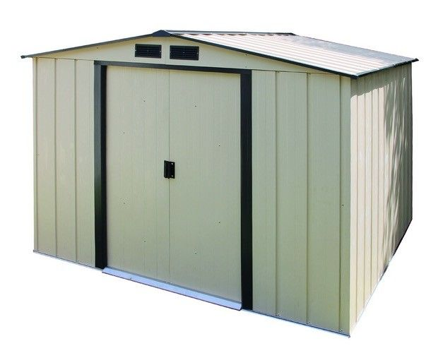 Duramax 10x10 Woodbridge Plus Vinyl Shed Kit W Foundation 40224 Storage Shed Kits Metal Storage Sheds Vinyl Sheds