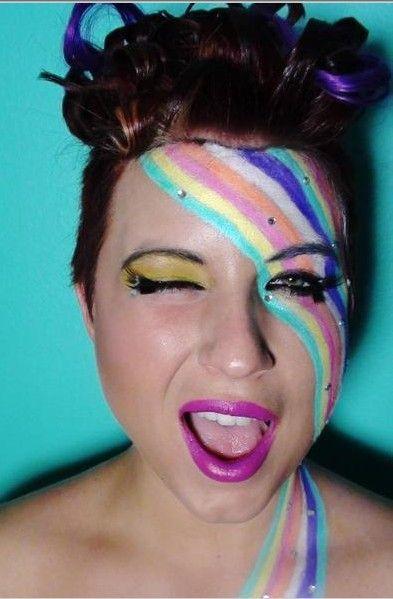 Color Me Pretty Rainbow Face Paint Face Painting Easy Neon Face Paint