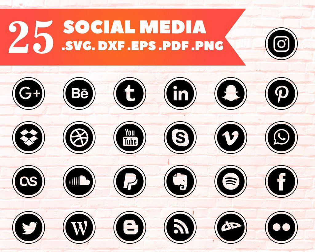 Social Media Icons, Facebook, Instagram, Twitter, Snapchat