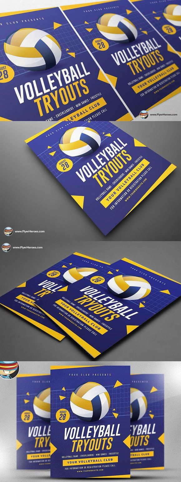 Volleyball Tryouts Flyer Template Flyer Template Flyer Volleyball Tryouts