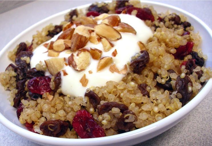 Recipe: Cranberry Raisin Quinoa with Yogurt | Poor Girl Eats Well — How to eat ridiculously well on a minuscule budget.